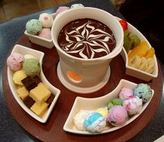 ice cream fondue - what the .. !?