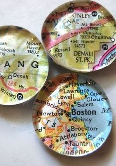 to Make Glass Marble Magnets With Any Image How to Make Glass Marble Magnets With Any Image - I have done this before but I like the maps!How to Make Glass Marble Magnets With Any Image - I have done this before but I like the maps! Map Crafts, Crafts To Sell, Diy And Crafts, Crafts For Kids, Arts And Crafts, Crafts With Maps, Teen Crafts, Marble Magnets, Diy Magnets