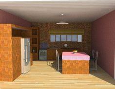 Projeto de Cozinha - SketchUp + Vray by Mayara Almeida, via Behance