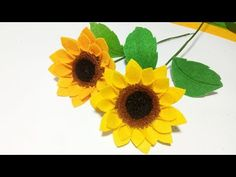 Diy, Flowers, Plants, Youtube, Make Fabric Flowers, Felt Flower Tutorial, Paper Sunflowers, Creative Crafts, Step By Step
