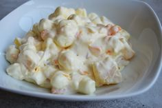 I have been craving sweets and wanted something semi healthy but still tasty I did this recipe without the marshmallows and with low fat cool whip and French vanilla pudding.