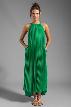 2a2b7d7c702 Line   Dot Pleated Maxi Dress in India Green