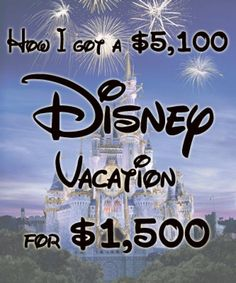 How to Save Thousands on A Disney World Vacation...read later