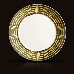 Greek Key motif will forever be a classic...MYTHOLOGIE CHARGER by L'Objet