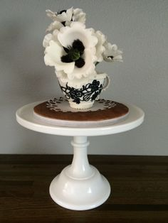 Poppies in a teacup - The teacup was made using a mini wonder pan.