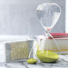 Hour Glass and 15-Minute Hour Glass ~ $29.95 (hour glass) $7.99 (15-minute) at cb2.com