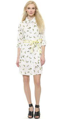 Sonia by Sonia Rykiel Banana Printed Shirtdress