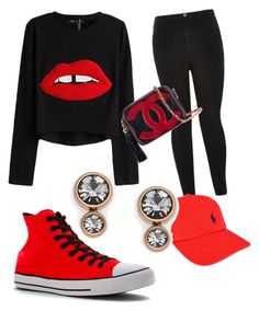 """""""Comfort💁🏽"""" by jessicajackson535 on Polyvore featuring River Island, Converse, Chanel, Polo Ralph Lauren and FOSSIL"""