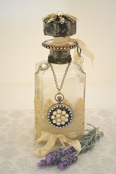 Mercatino: Lavender Bath Salts in a Pretty Bottle!