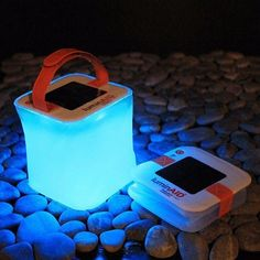 The LuminAID PackLite Spectra is great for backpacking this Mood Lighting Solar LED Lantern is lightweight waterproof and inflates in one breath £22.00