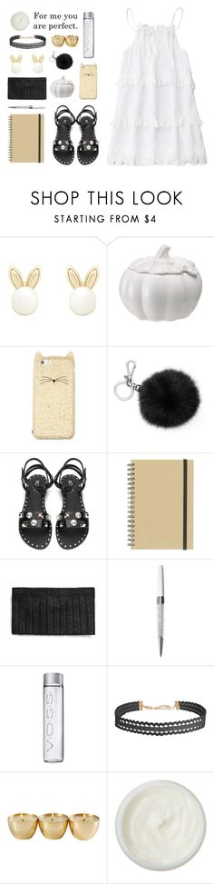"""❉ don't let me down ❉"" by december-berry ❤ liked on Polyvore featuring Lipsy, Martha Stewart, Kate Spade, Michael Kors, Paperchase, Swarovski, Humble Chic, REN, white and black"