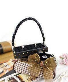 Take a look at this Retro Plaid Handbag Ring Holder/Jewelry Box today!
