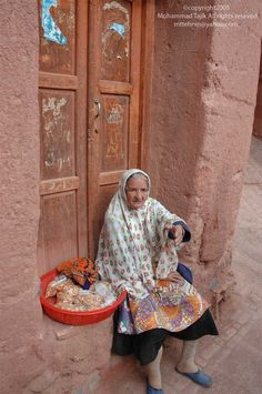 Abyaneh is a famous historic Iranian village near the city of Natanz in Isfahan Province / Iran