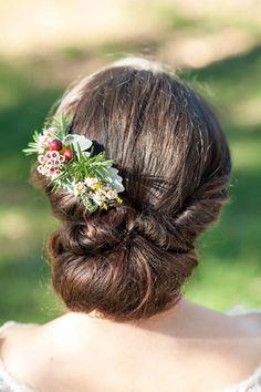 Wedding Hair With Greeenery
