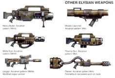 Warhammer weapon concepts