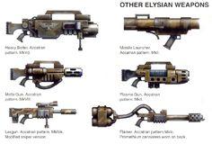 Warhammer weapon concepts