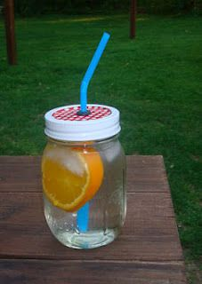 Mason Jars with Straw Lids - Summer Perfect Drink Container