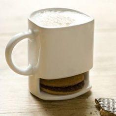 Coffee mug/cookie holder