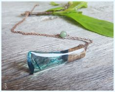 Blade of ocean. Blue / teal colored resin by CutBranchCreations