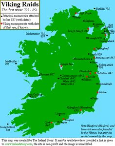 In 837, Vikings attacked on the Boyne and Liffey rivers on the east coast and on the Shannon on the west. In 840 the Vikings spent a year on Lough Neagh pillaging, amongst others, the monastery of Armagh. Many of the scholars and monks of Louth monastery were captured and sold into slavery. In 841 they set up fortified camps at Annagassan (county Louth) and Dubhlinn (present day Dublin). Clonmacnoise, Birr and Clonfert were pillaged.