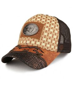 size 40 11806 39c81 Hats   Caps, Men s Hats   Caps, Baseball Caps, Straw Design Metallic Hecho