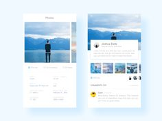Photo Information View The Application by Xing_Carol #Design Popular #Dribbble #shots