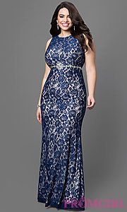 Lace Floor Length with Jewel Embellished Empire Waist
