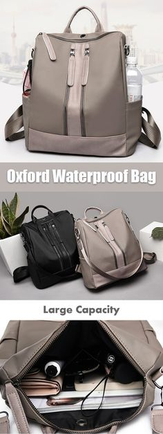 [HOT SALE] Oxford Waterproof Travel Backpack Shoulder Bag Source by babyteff