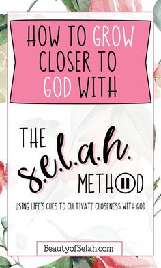 Bible Verse Of The Day:Learn how to get closer to God with the selah method! I can teach you how to use life cues to include Him in ALL of your day! Bible Studies For Beginners, Bible Study Tips, Bible Lessons, Christian Living, Christian Faith, Christian Women, Christian Verses, Get Closer To God, Christian Relationships