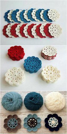 Beautiful Small Mats Free Crochet pattern