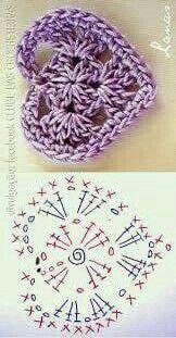 Crochet flowers 583990276665505744 - Crochet Heart Flower Valentines Ideas For 2019 Source by veroyounash Motif Mandala Crochet, Crochet Flower Patterns, Crochet Stitches Patterns, Crochet Chart, Crochet Squares, Crochet Flowers, Knitting Patterns, Crochet Mittens, Crochet Gifts