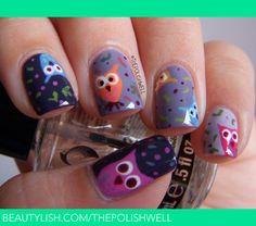 Fall Owls! <3 | Michelle C.'s (thepolishwell) Photo | Beautylish