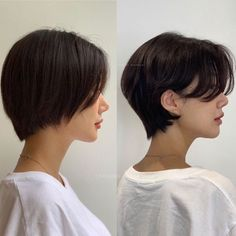 Pin by Luciane Carla on cabelo in 2020 Short Hair Tomboy, Asian Short Hair, Girl Short Hair, Short Hair Cuts, Korean Short Haircut, Short Hair Korean Style, Tomboy Hairstyles, Pretty Hairstyles, Tomboy Haircut