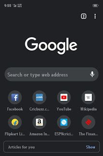 Dark Mode In Google Chrome For Android Users Dark Theme In Google