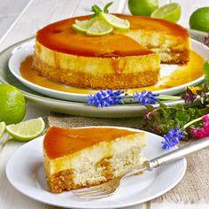 Creme caramel cheesecake with a sponge base. Leche Flan Cheese cake :)