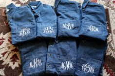 Get ready for the big day with your personalized button down shirt. We will embroider these shirts with your choice of initials, name, or