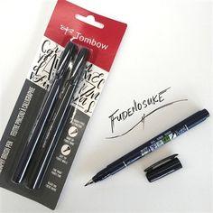 Tombow Fudenosuke Calligraphy Pens at Oregon Art Supply Calligraphy Markers, Calligraphy Set, Stationary Supplies, Art Supplies, Pentel Pocket Brush Pen, Tombow Pens, Tombow Fudenosuke, Pen Sets, New Sign