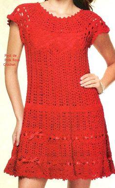 Receitas de Trico e Croche: Dama de Vermelho - Vestido de crochê