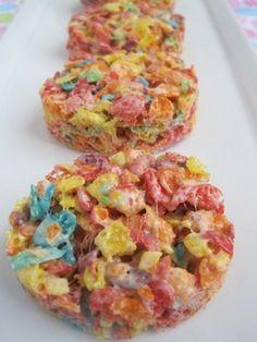 Easiest - Gluten-Free  Fruity Pebble Easter Egg Marshmallow Treats