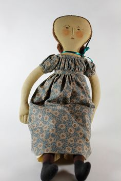 Historical Folk Doll Gail Wilson design by sparetimequilts on Etsy