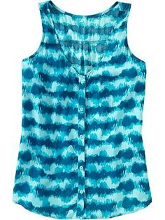 button-front tank.  I love this in every color and I can already think of a least a dozen outfits for this top. $22.94