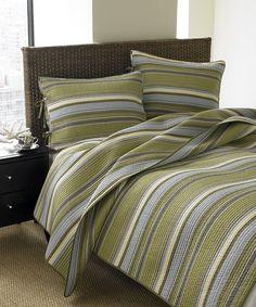 Eddie Bauer® Green Fresno Quilt Set