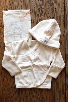 Organic Cotton Baby Cap+Cardigan