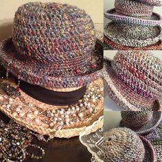 Handmade Hats By Sunnylook bysunnylook.etsy.com #handmadehats #hats #ladiesfashion #womenswear  #crochethats #madebyme