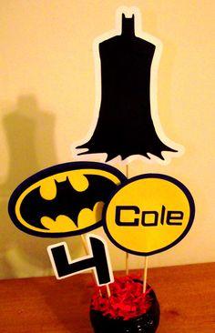 Batman Birthday Centerpiece