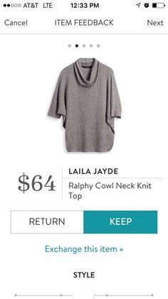 StitchFix 10/30/17....I have this style in a lighter color and love it! Would like this and other colors same style.