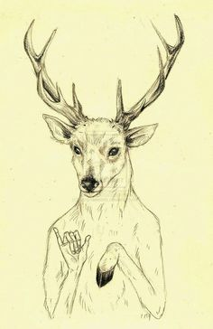Adventure Time/ Character: Stag. Adventure Time Tattoo, Character Art, Character Design, Adventure Time Wallpaper, Adventure Time Characters, Time Tattoos, Cool Sketches, Animal Heads, Animal Tattoos