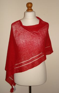 Check out this item in my Etsy shop https://www.etsy.com/uk/listing/290793009/red-linen-scarf-wedding-shawl-linen
