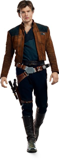 Alden Ehrenreich plays Han Solo in Solo: A Star Wars Story. - Ideas of Star Wars Outfits - Alden Ehrenreich plays Han Solo in Solo: A Star Wars Story. Han Solo Cosplay, Han Solo Costume, Han Solo Outfit, Sith, Dark Vader, Star Wars Outfits, Star Wars Clothes, Republic Commando, Star Wars Personajes