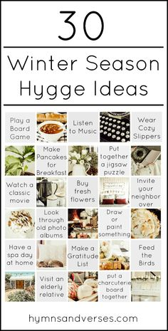 Winter Season Hygge Ideas - Hymns and Verses - 30 Winter Season Hygge Ideas. Simplify and enjoy the everyday, slow down, spend time with family an - Feng Shui, Hygge Life, Slow Living, Stress, Winter Season, Cozy House, Cozy Winter, Old Photos, Lifestyle